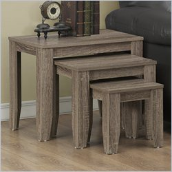 Monarch Nesting Tables in Dark Taupe (Set of 3)