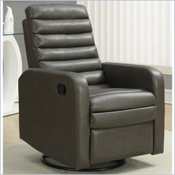Monarch Quilt Back Recliner in Charcoal Gray