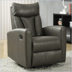 Monarch Glider Recliner in Charcoal Gray