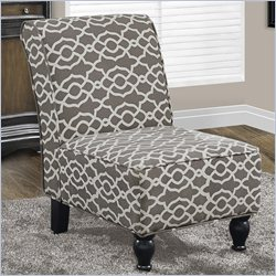 Bell Fabric Accent Chair in Brown