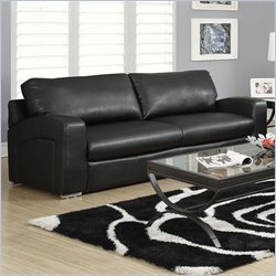 Monarch Upholstered Sofa in Black