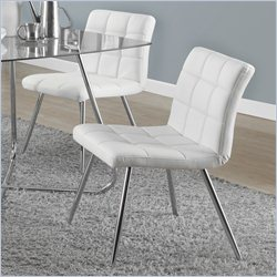 Monarch Dining Chair in White (Set of 2)