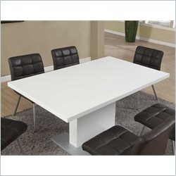 Monarch Dining Table in Glossy White