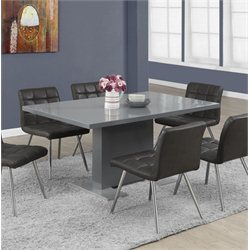 Monarch Dining Table in Glossy Charcoal