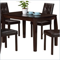 Monarch Rectangular Dining Table in Cappuccino