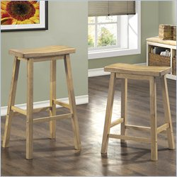 Monarch Saddle Seat Barstool in Natural (Set of 2)