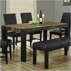 Monarch Dining Table in Distressed Black