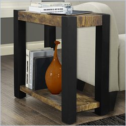 Side Table in Distressed Black