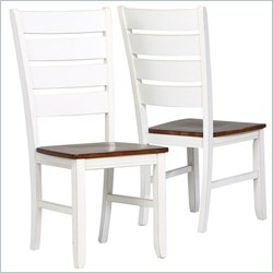 Monarch Side Chair in Antique White and Oak (Set of 2)