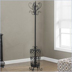 Monarch Coat Rack with Hooks in Hammered Black