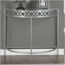 Monarch Console Accent Table in Silver with Metal Base