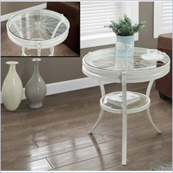 Monarch Accent Table in Antique White