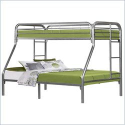 Monarch Twin Over Full Bunk Bed in Silver