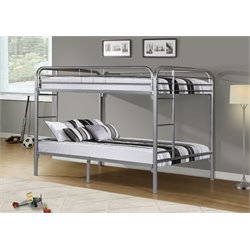 Full Over Full Bunk Bed in Silver