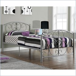 Monarch Twin Metal Bed Frame in Silver