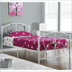 Monarch Twin Metal Bed Frame in White