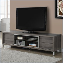 Monarch Euro Style TV Console in Dark Taupe