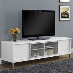 Monarch Hollow-Core Euro TV Console in White