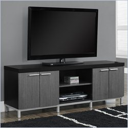Monarch Hollow-Core TV Console in Black and Gray