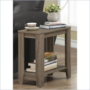 Accent Side Table in Dark Taupe