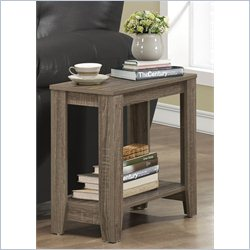 Monarch Accent Side Table in Dark Taupe