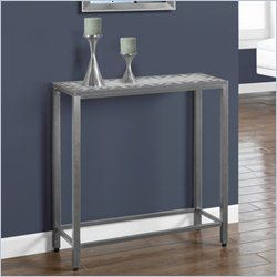 Monarch Sofa Console Table in Hammered Silver