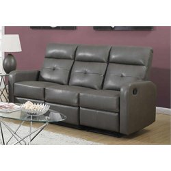 Monarch Leather Sofa in Charcoal Grey