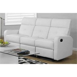 Leather Sofa in White