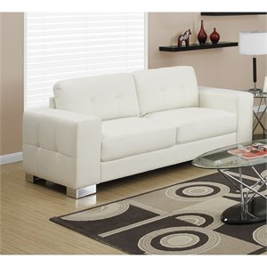 Benbrook Leather Sofa in Ivory
