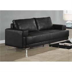 Monarch Leather Sofa in Black