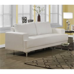 Monarch Leather Sofa in Ivory