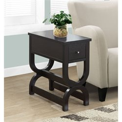 Monarch One Drawer Accent Table in Cappuccino