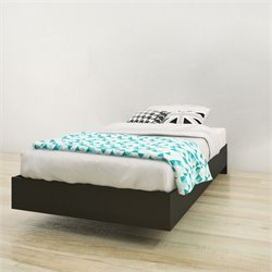 Nexera Twin Platform Bed in Black