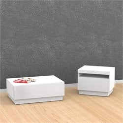 Nexera 2 Piece Coffee Table Set in White