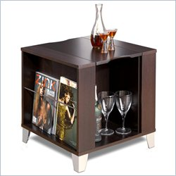 Nexera Brooklyn Square End Table in Espresso Finish