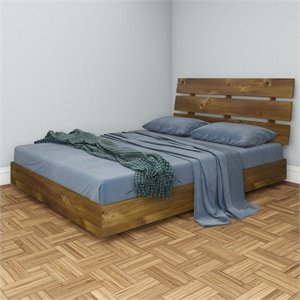 Nexera Nocce Queen Platform Bed in Truffle