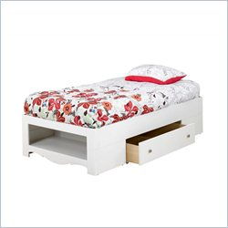 Nexera Dixie White Platform Storage Bed - Twin