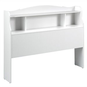 Bookshelf Headboard in White