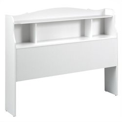 Nexera Dixie Bookshelf Headboard in White - Full