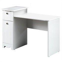 Wood Vanity/Student Desk in White