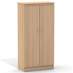 Nexera Wall Street 5 Shelf Storage Cabinet in Natural Maple