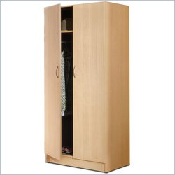 Nexera Deco 2 Door Wardrobe Armoire in Natural Maple