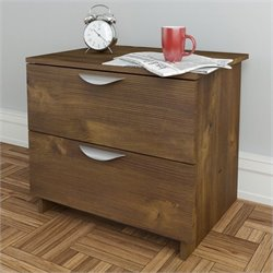 2 Drawer Nightstand in Truffle Finish