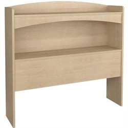 Nexera Alegria Twin Bookcase Headboard in Natural Maple