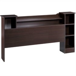 Nexera Pocono Full Bookcase Headboard in Espresso