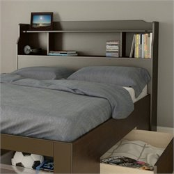 Full Bookcase Headboard in Espresso