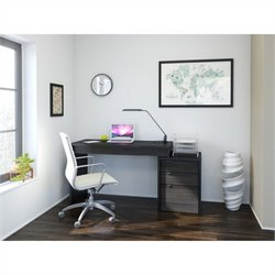 3 Drawer Reversible Desk in Black and Ebony