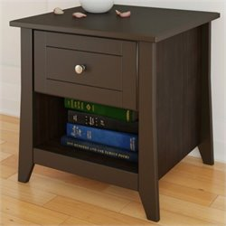 Nexera Elegance End Table in Espresso