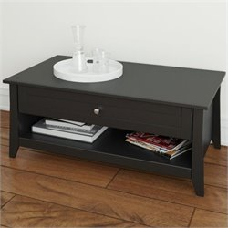 Nexera Tuxedo Coffee Table in Black