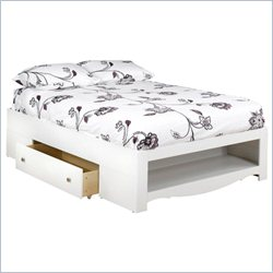 Nexera Pixel Full Storage Bed in White